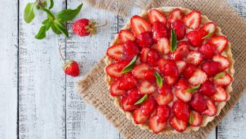 Recept taart met aardbeien